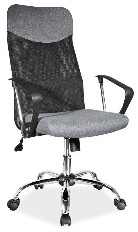 Fotel obrotowy Dora (szary materiał)