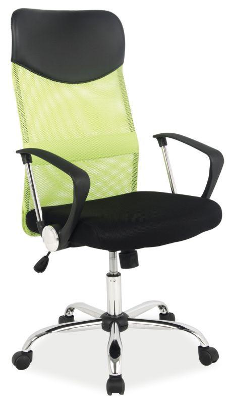 Fotel obrotowy Dora (zielono-czarny)