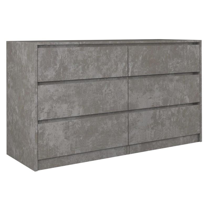 Komoda Elia P6 140 (beton)