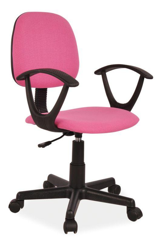Fotel obrotowy Flik (różowy)