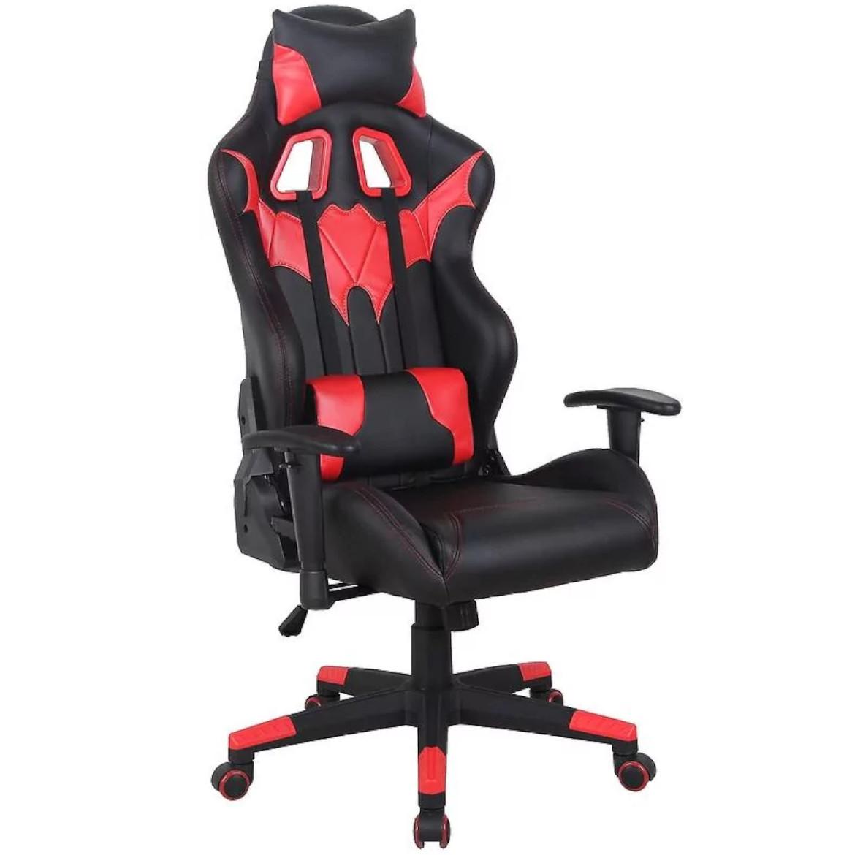 Fotel CX1055H (czerwono/czarne)