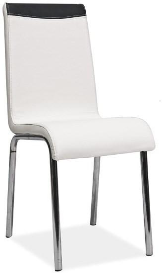 Krzesło Gent (białe/czarne)