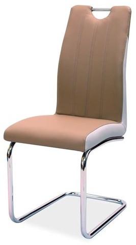 Krzesło Gerardina (cappuccino/boki jasny szary)