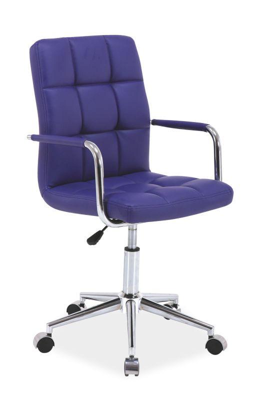 Fotel obrotowy Helmut (fioletowy)