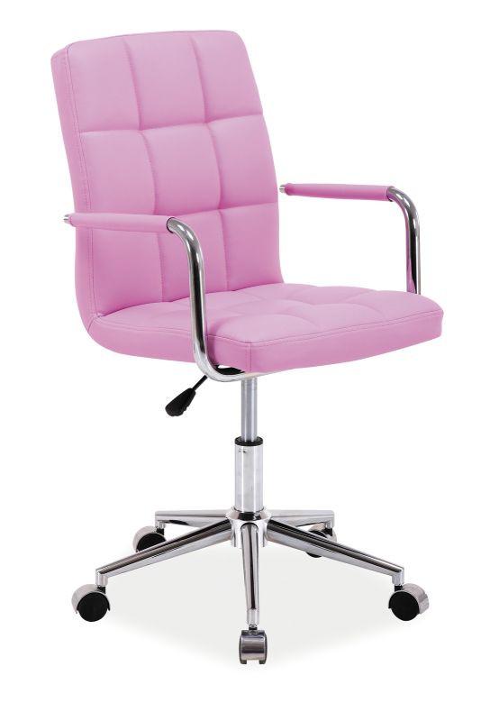 Fotel obrotowy Helmut (różowy)