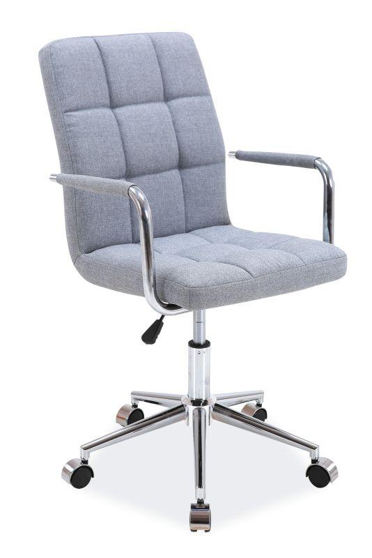 Fotel obrotowy Helmut (szary materiał)