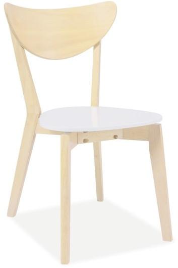 Krzesło Hose (dąb bielony/biały)