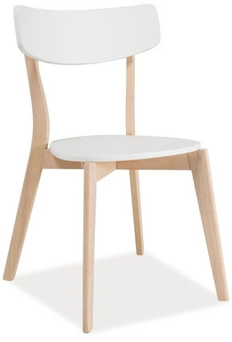 Krzesło Kansas (dąb bielony/biały)
