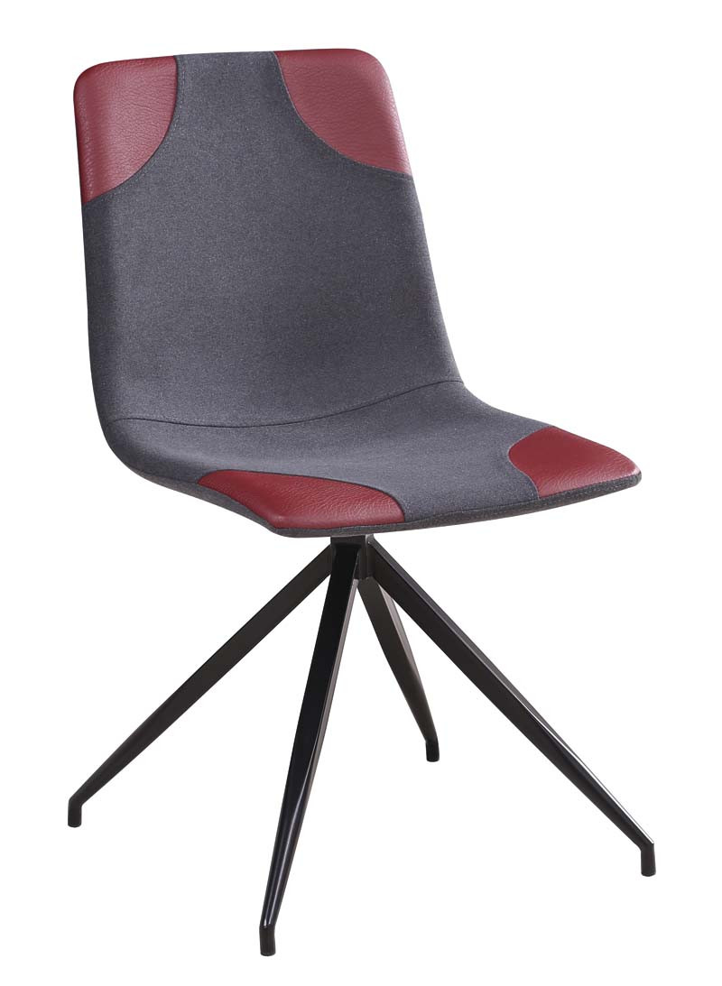 Krzesło Mark (szary+bordo)