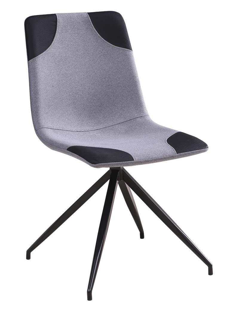 Krzesło Mark (jasny szary+czarny)