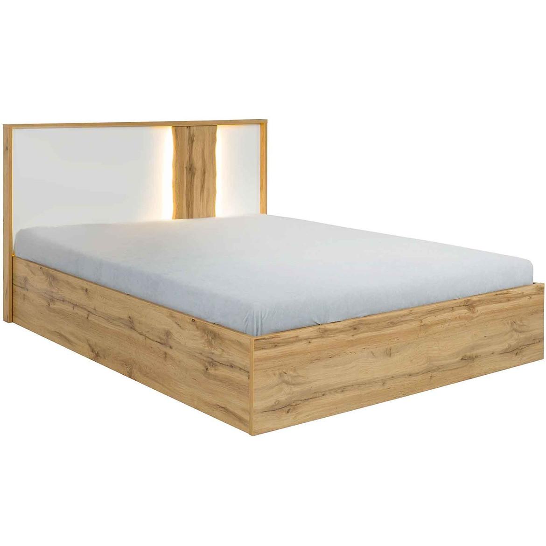 Łoże Wood 31  160X200 bez pojemnika  biały/wotan