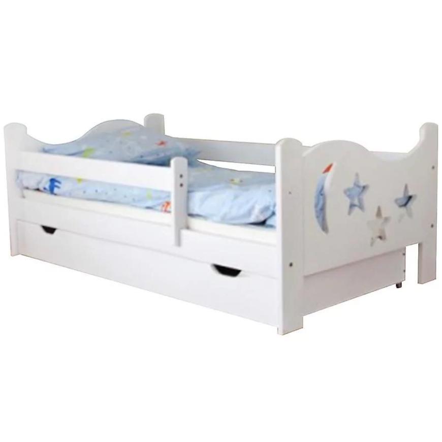 Łóżko Mikołaj + mat 80/160 biały