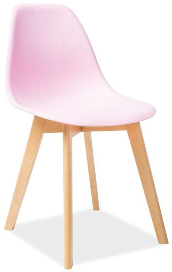 Krzesło Maciek (jasny różowy)