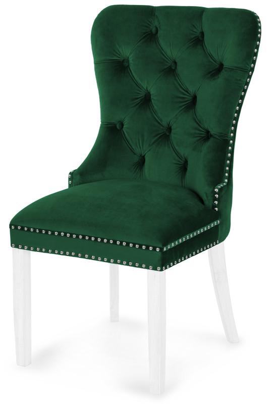 Krzesło Otello (zielony/bialy)