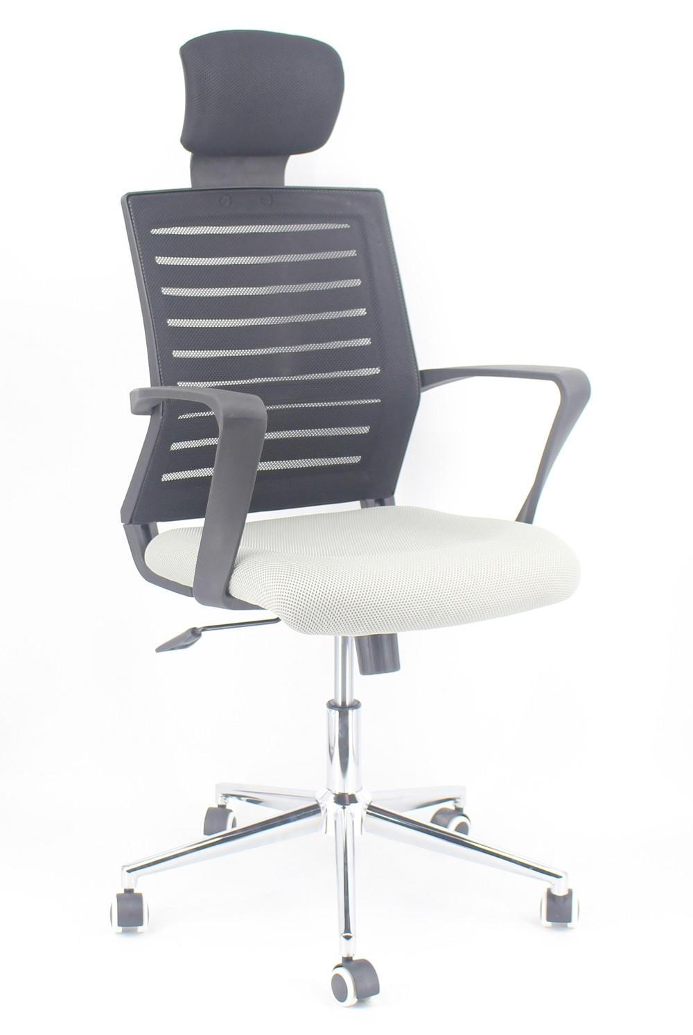 Fotel obrotowy Zogu szary/czarny