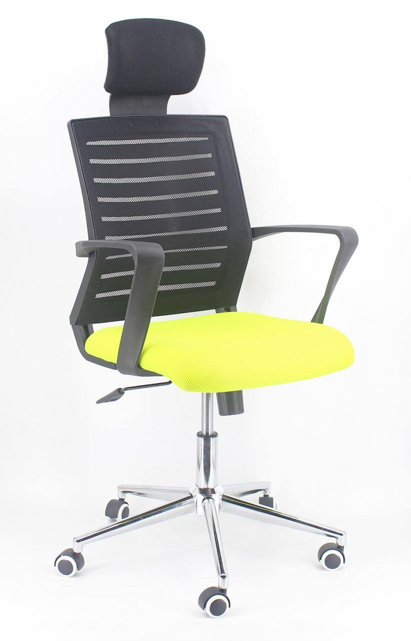 Fotel obrotowy Zogu zielony/czarny