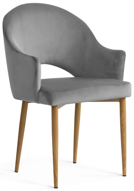 Krzesło Miriam (szary/dąb)