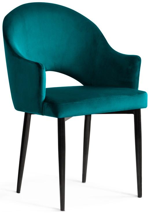 Krzesło Miriam (turkusowy/czarny)