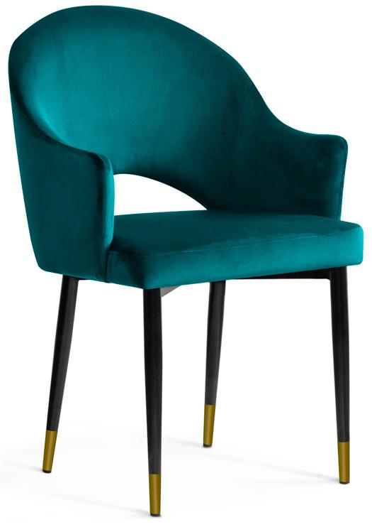 Krzesło Miriam (turkusowy/złoty)