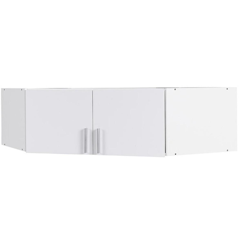 Nadstawka szafy narożnej Snow 06A 117 cm biały połysk/biały AL