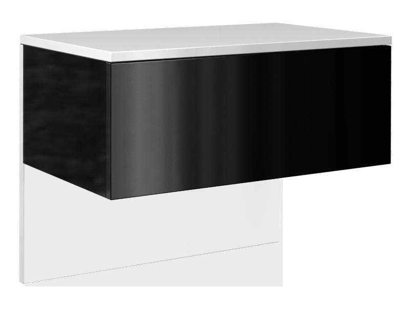 Szafka wisząca z szufladą Elektra (czarny połysk)
