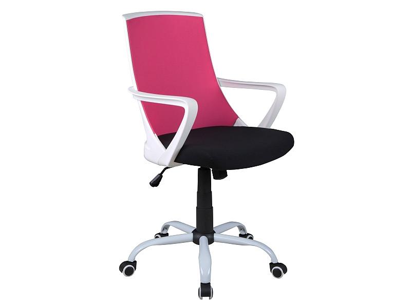 Fotel obrotowy Olaf (różowo-czarny)