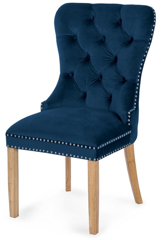 Krzesło Otello (niebieski/dąb)