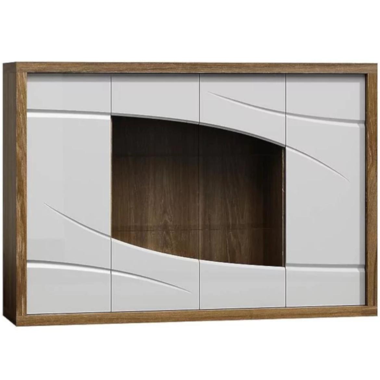 Paris P11 Komoda szkło dąb stirling/biały