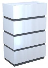 Komoda Sol P4 (biały/grafit połysk)