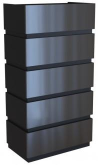 Komoda Sol P5 (czarny połysk)