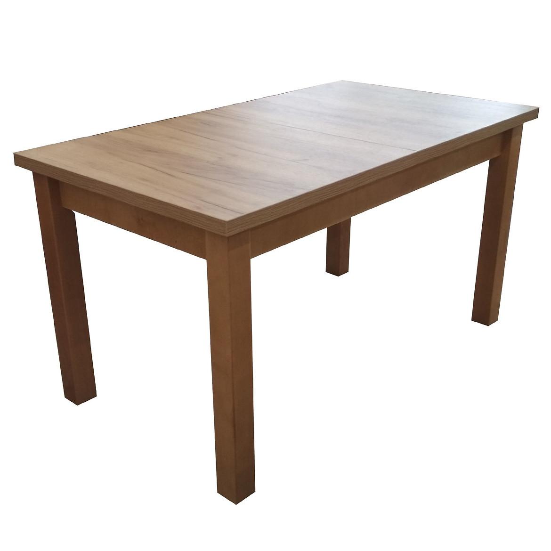 Stół ST28 140x80+40 dąb wotan CC
