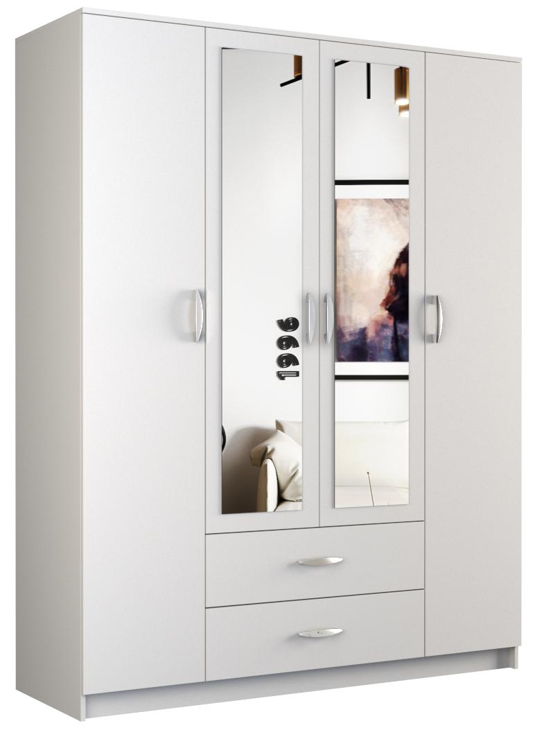 Szafa Graviola 160 (biały) z lustrem