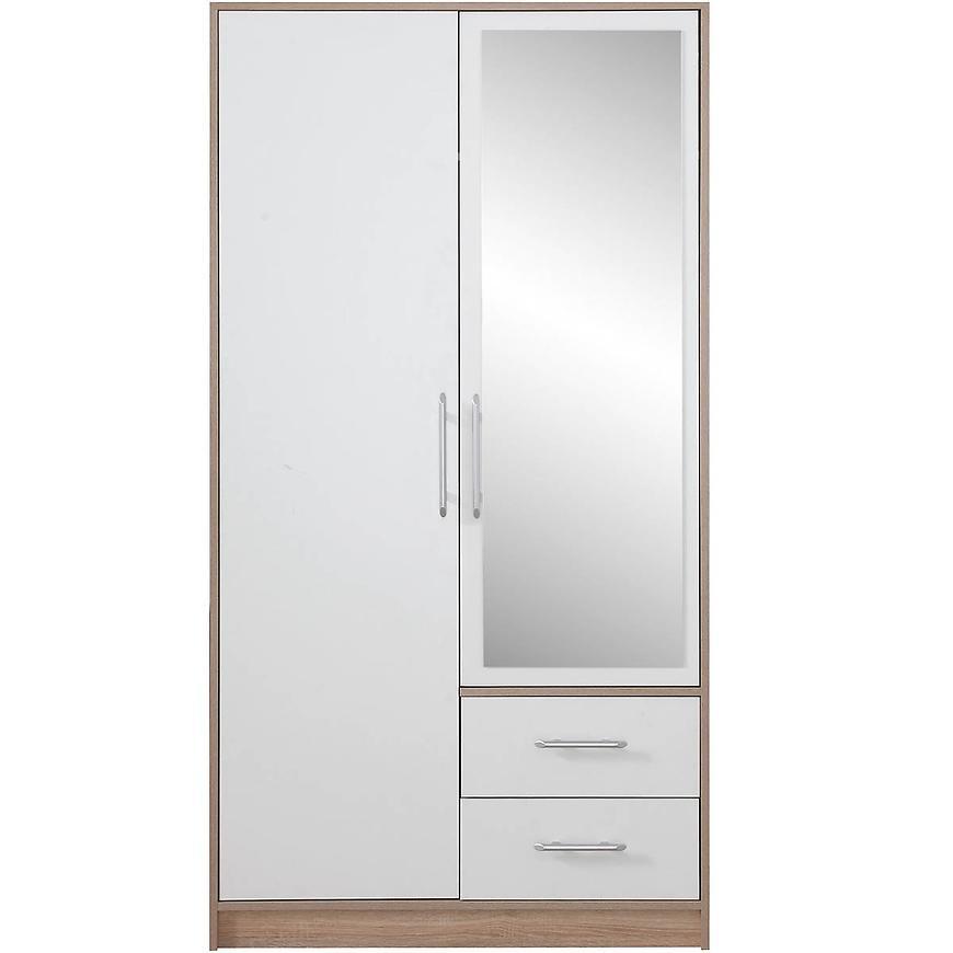 Szafa Smart SRl3 100 cm dąb sonoma/biały