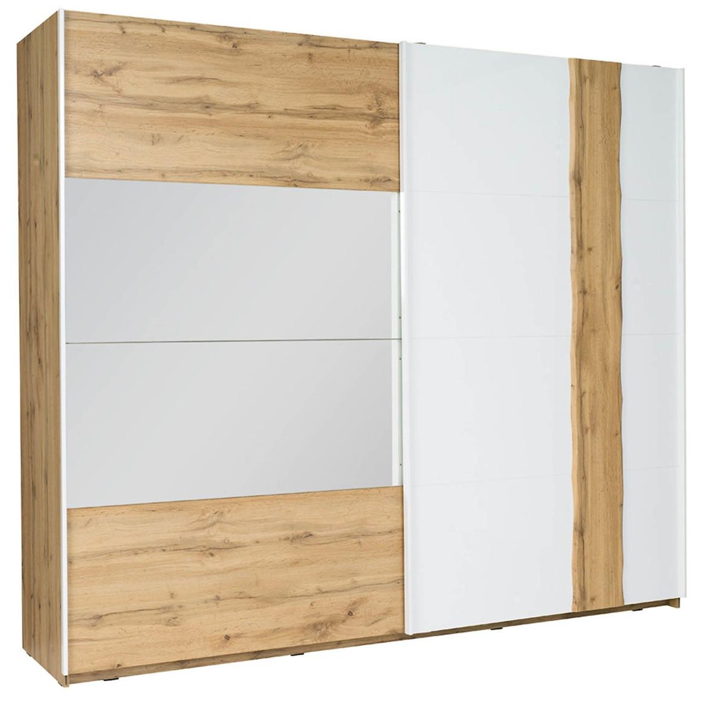 Szafa Wood 12 250 cm biały/wotan