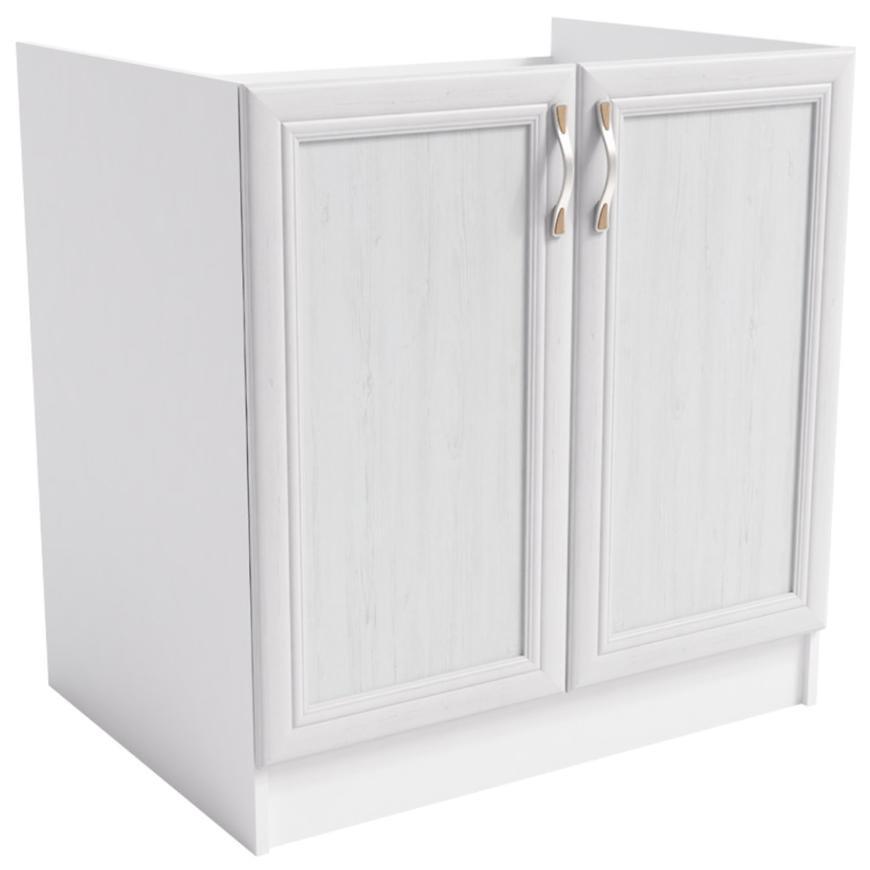 Szafka kuchenna Sycylia  D80z biały/dąb lancelot
