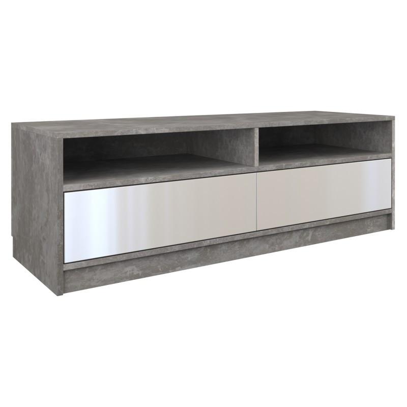 Szafka RTV Elia (beton/biały połysk)