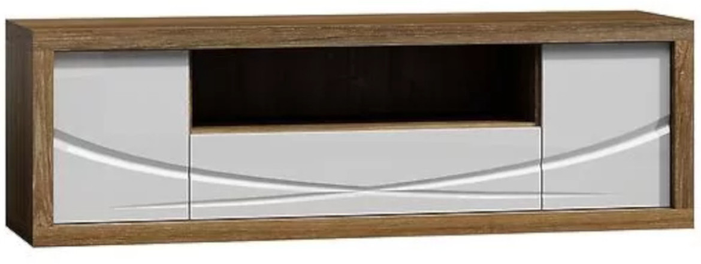 Szafka RTV Paris P5 (dąb stirling / biały)