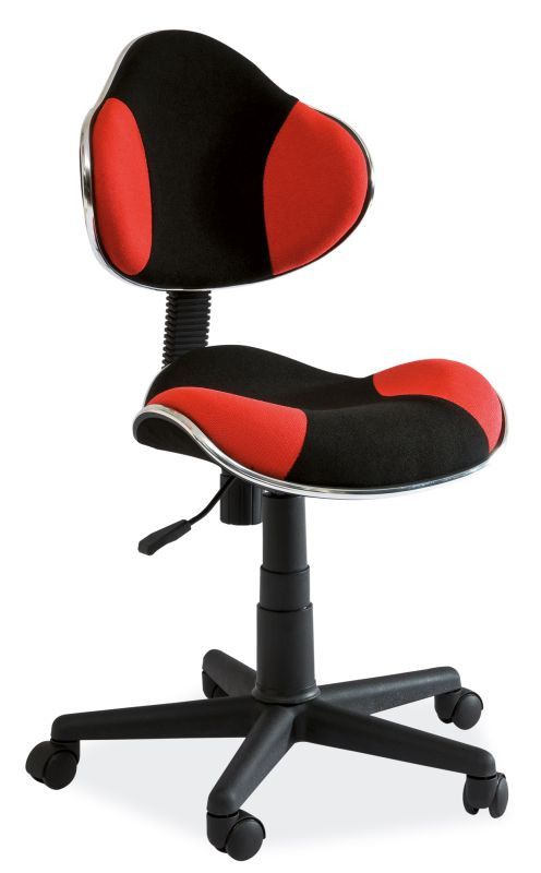 Fotel obrotowy Varius (czerwono-czarny)