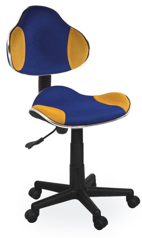 Fotel obrotowy Varius (niebiesko-żółty)