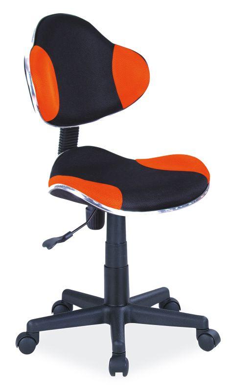 Fotel obrotowy Varius (pomarańczowo-czarny)