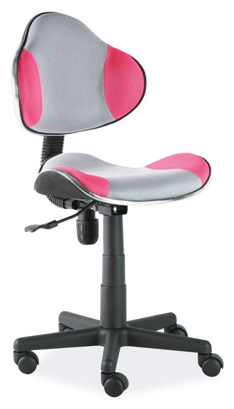 Fotel obrotowy Varius (różowo-szary)