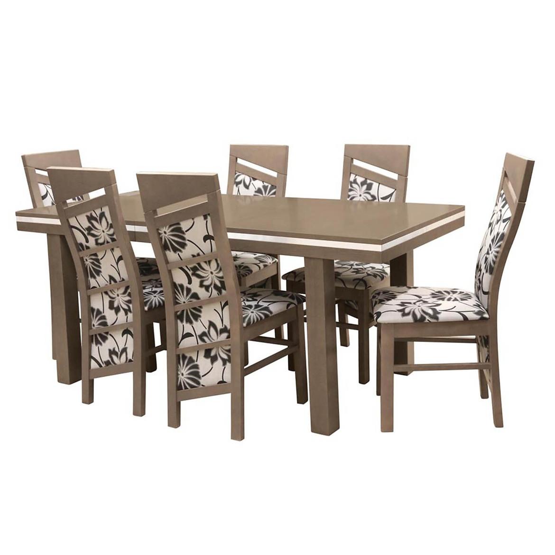 Zestaw stół i krzesła Bond 1+6 ST608 II KR607 BR022 viena szary