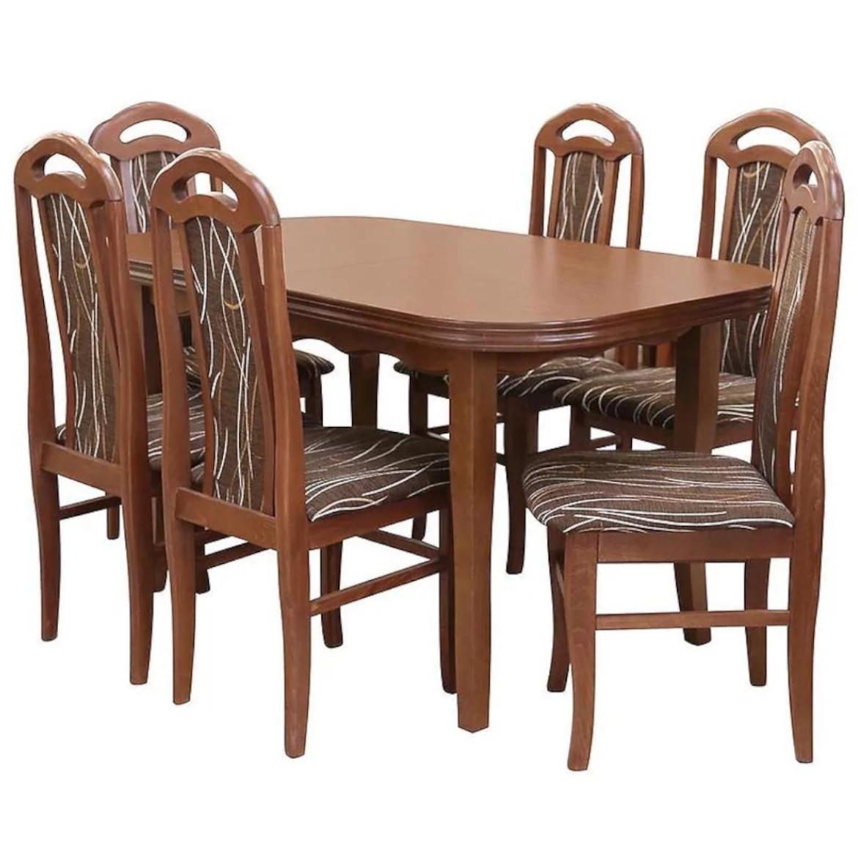 Zestaw stół i krzesła Daniel 1+6 ST667 rustikal 140x80+40 KR574 BR243 monaco7
