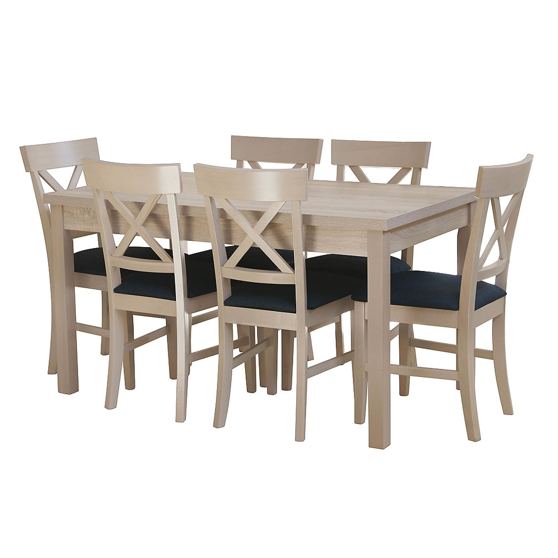 Zestaw stół i krzesła Dawid 1+6,ST343,140X80+40,d.son,KR P01,d.son