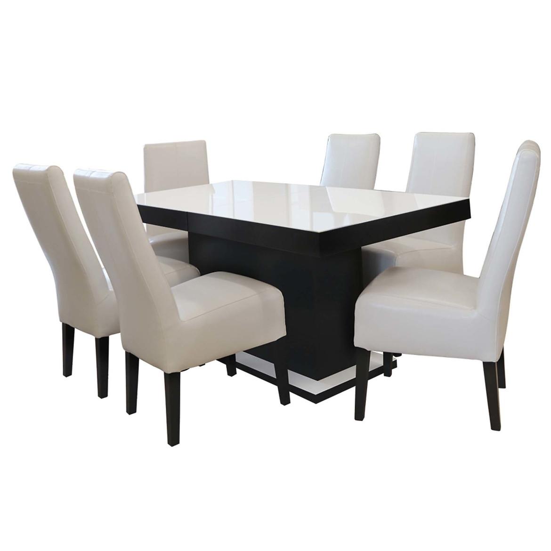 Zestaw stół i krzesła Denis 1+6 ST704 IV KR346 BR2441 margo 05 SZ:9003