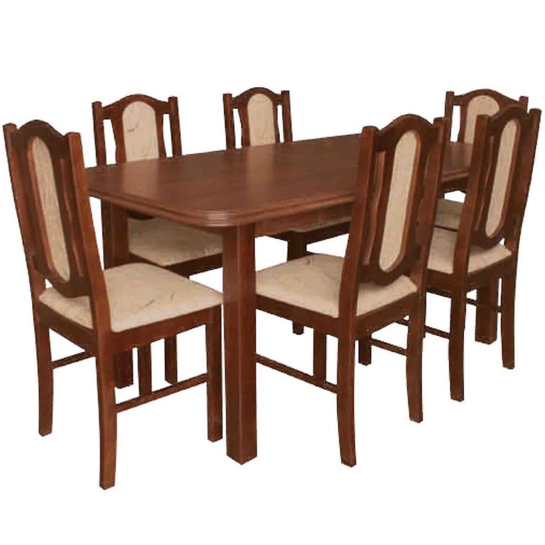 Zestaw stół i krzesła Filip 1+6 ST572 orzech  KR573 BR281 monaco2