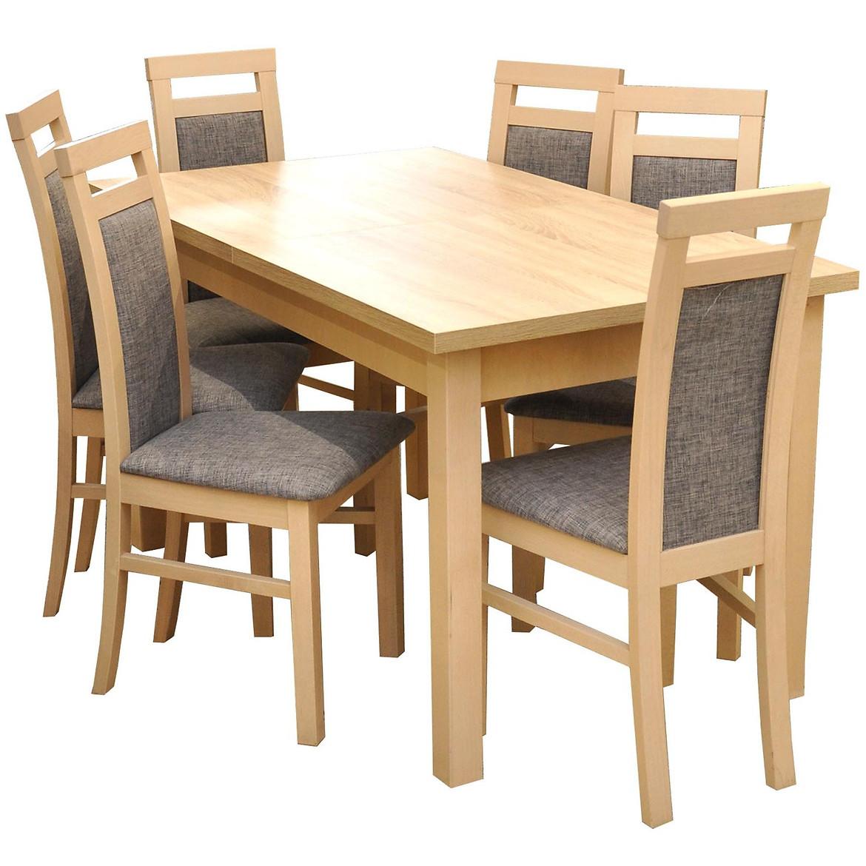Zestaw stół i krzesła Kobe 1+6 ST28 140/80+40L d.sonoma W74 tap.A4
