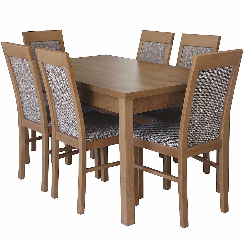 Zestaw stół i krzesła Marzena 1+6,140x80+40
