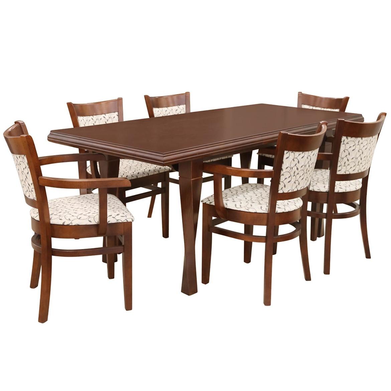 Zestaw stół i krzesła Ola 1+6 ST616II KR619 BR2432 flora 16785/7003