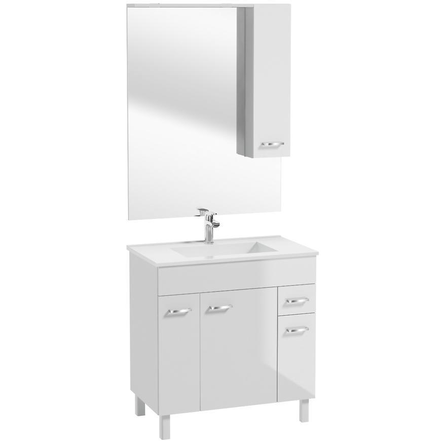 Zestaw szafka z umywalką Catania D80 i lustro z oświetleniem